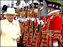 The Beefeaters date back to 1485. Photo BBC.